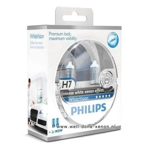H7 met W5W Philips WhiteVision set