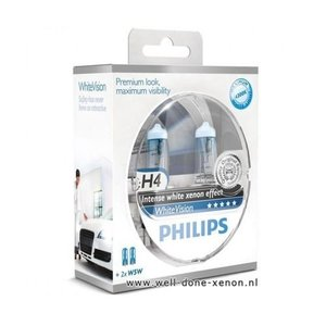H4 met W5W Philips WhiteVision set