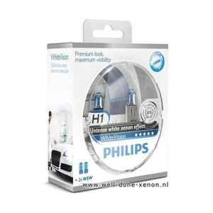 H1 met W5W Philips WhiteVision set