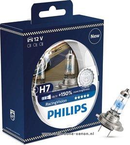 H7 Philips Racing Vision 150% 12972RVS2 set