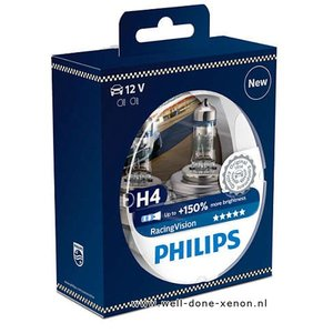 H4 Philips Racing Vision 150% 12342RVS2 set